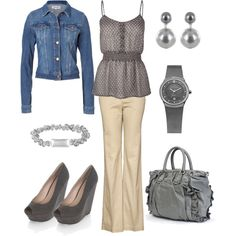 id do this wout the denim...love the classy look