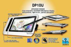 "Amazon.com: Yiynova DP10U+ 10.1"" USB Digitizer Tablet LCD(Win/Mac): Computers & Accessories"