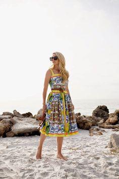 Dress: Dolce and Gabbana Shoes: Everlane Belt: Jcrew  Sunglasses: Karen Walker 'Super Duper'