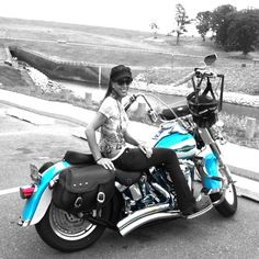 Women DO ride Harley's! I LOVE mine!  Love this color!