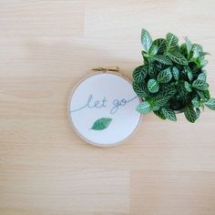 Oh, the irony of liking this piece too much to put it up for sale. 😏 I love my new tiny plant too - it's called a Fittonia, otherwise… Embroidery, My Love, Plants, How To Make, Instagram, Needlework, My Boo, Planters, Drawn Thread