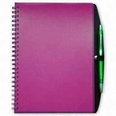 Trendy Pocket Notebooks with Pens and PP Cover