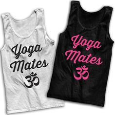 Yoga Mates Best Friends Tees by AwesomeBestFriendsTs on Etsy