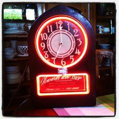 1940's advertising neon clock.