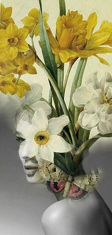 La Vierge (The Virgin) by Antonio Mora. Digital collage surrealist