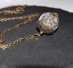 Ketten mittellang - °°° Pusteblumen Kette Bronze°°° - ein Designerstück von Mirakel1807 bei DaWanda Bronze, Chains, Neck Chain, Flowers