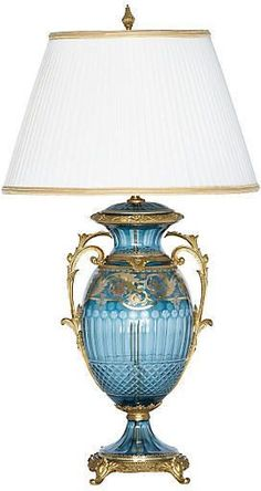 You'll love the Rochelle Table Lamp at Perigold. Enjoy white-glove delivery on large items. Lamp Store, Golden Decor, Lamp Shade, Table Lamp, Sconce Lamp, Beautiful Lamp, Lamp Bases, Glass Candlesticks, Leaded Glass