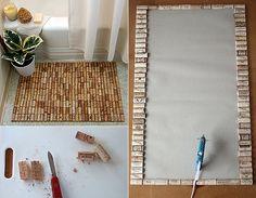 basteln-mit-korken_kreative-und-einfache-bastelideen-für-diy-badematte-aus-korken