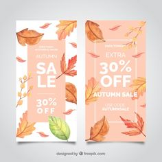35 Autumn and Fall Design Elements For Your Next Project 35 Autumn and Fall Design Elements For Your Next Project Email Marketing Design, Email Design, Ad Design, Layout Design, Banner Design Inspiration, Web Banner Design, Fall Clean Up, Fall Banner, Sale Poster