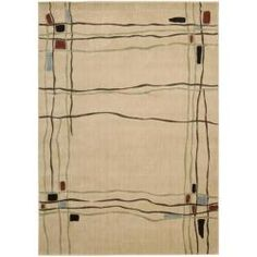 @Overstock - This rug's abstract designs and stylish looks are completed with an intricate color palette of ivory, red, blue, green, beige, brown and black. The designs on this rug are hand carved for additional texture.http://www.overstock.com/Home-Garden/Monaco-Ivory-Abstract-Rug-79-x-1010/5659963/product.html?CID=214117 $243.99