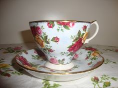 Royal Albert Old Country Roses Rose Cameo Teacup and Saucer