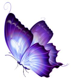 Transparent Purple Deco Butterfly PNG Art
