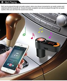 Amazon.com: All in One FM transmitter with bluetooth/ Dual USB car charger /Read USB flash drive: MP3 Players & Accessories