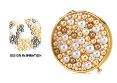 Estee Lauder - Limited Edition - 2008 Compact Winter Compacts Pearls
