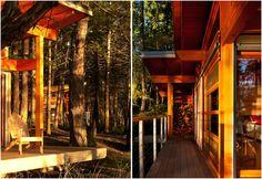 A Gulf Island timber cabin