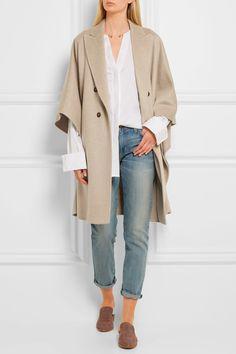 Max Mara | Basilio draped cashmere coat | NET-A-PORTER.COM