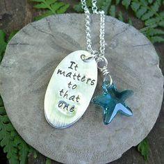 The Starfish Story Necklace. $58.00, via Etsy.