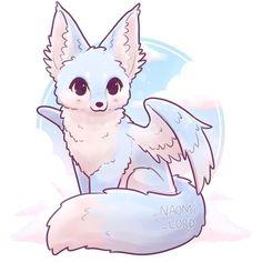 Element Fox ☁️✨ Ok so my idea i. - ✨☁️Air Element Fox ☁️✨ Ok so my idea i. -✨☁️Air Element Fox ☁️✨ Ok so my idea i. - ✨☁️Air Element Fox ☁️✨ Ok so my idea i. - Kawaii Yin and Yang Foxes Stickers and/ or Prints Cute Kawaii Animals, Cute Animal Drawings Kawaii, Cute Drawings, Wolf Drawings, Kawaii Chibi, Cute Chibi, Kawaii Art, Kawaii Anime, Mythical Creatures Art