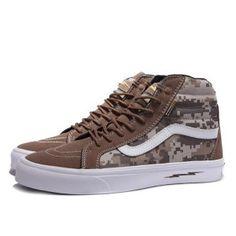 2ebfbe0ecf Vans Shoes Brown Camo Defcon X Syndicate Sk8-Hi Shoes Unisex Classic Canvas