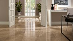Marmi Evoluzion porcelain tiles in Amani shines in the sun. Types Of Floor Tiles, Types Of Flooring, Tile Floor, Interior Wall Colors, Interior Walls, Interior Design, Rachel House, Olympia Tile, Home Furniture