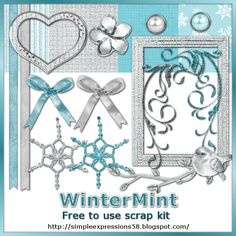 Simple Expressions: Scrap Kit: Winter Mint