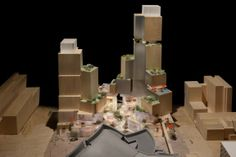 Frank Gehry and the new Grand Avenue project, just in front of his W. Dysney Concert Theatre. > Take a look