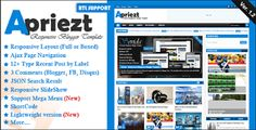 Apriezt v2.2 Blogger Template Free Download   Free Download Apriezt Responsive Blogger Template  v2.2 - themeforest |  Apriezt v2.2 - Responsive Magazine News Blogger Theme is a best responsive blogspot theme having awesome layout and two view styles such as Boxed and Full width. It is High User Friendly web-design and its design is simple and clean that is surely perfect for Magazine, News, Personal Sites or Portfolio websites.