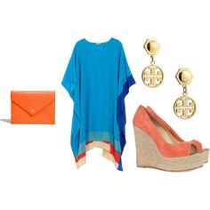 for summer!!!! orange/blue. Can be cute even if I happen to be pregnant =)