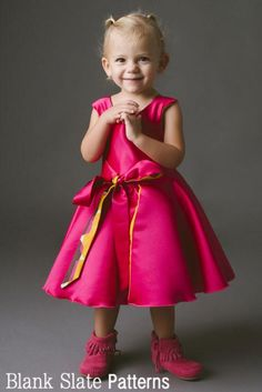The Amaryllis Dress - 1950s inspired wrap or walkaway dress PDF Sewing Pattern by Blank Slate Patterns