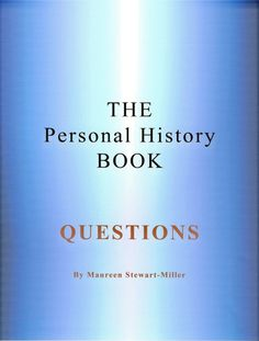 The Personal History Book - Questions (PDF) | Treasure Chest Products