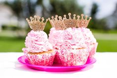 Princess Crown Cupcake Toppers, Set of 12