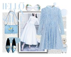 """""""Color of Fashion: Serenity"""" by harperleo ❤ liked on Polyvore featuring Delphine Manivet, Topshop, Marc Jacobs and Topshop Unique"""