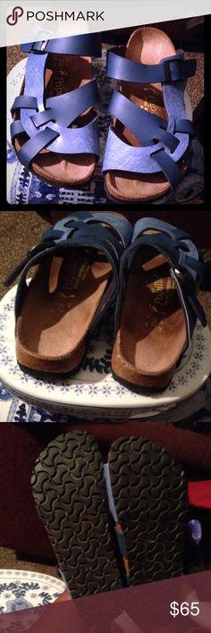 Birkenstock Sandals Blue in like new condition Papillio Birkenstock ladies Sandals. Birkenstock Shoes Sandals
