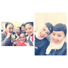 Love them so much!!❤️ I met new friend Sanja from Serbia who speaks JAPANESE so well We had fun and she made my flight so unforgettable!!✈️ #cabincrew #Abudhabi #UAE #economycrew #Japanese #Serbian #Portuguese #Chinese #Beijing #Nagoya #flightattendant