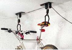 Bicycle Lift Ceiling Mounted Bicycle Display Rack Hoist Storage Garage Hanger Pulley Rack Metal Black Lift Assemblies