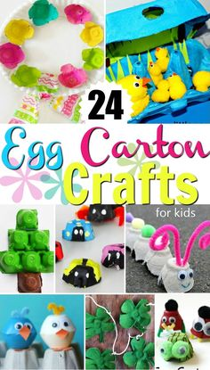 Egg Carton Crafts for kids - fun kids egg carton craft projects that also help teach recycling.