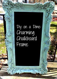 Charming Chalkboard Frame Chalkboards have so many practical uses around the house! You can display the dinner menu on them, write…