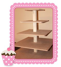 DIY cupcake tower... we sell it, you decorate it! use again and again, year after year. cupcake towers from party box design.