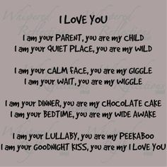 I love you (child)