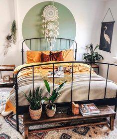 Bohemian Bedroom Decor, Bedroom Inspo, Bedroom Rustic, Modern Bedroom, Bedroom Ideas, Trendy Bedroom, Bohemian Interior Design, Minimalist Bedroom, Dream Rooms