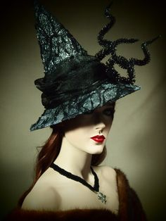 NEW Mini style Couture Witch Hat Dark Dank by EvercrumblyAndWitch, $89.00