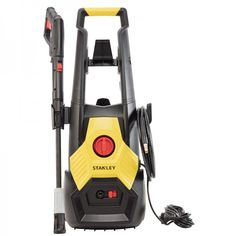 The Stanley Pressure Washer provides high powered cleaning capability around the home. This is a electric pressure washer. Concrete Driveways, Garden Features, Stained Concrete, Water Flow, Pressure Washers, Power Tools, Gun, Electric, Truck
