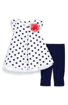 Little Me Polka Dot Tunic  amp  Capri Leggings (Baby Girls) available at   582f058f660