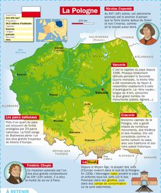 Fiche exposés : La Pologne Learn French, Ap French, French Class, Europe Du Sud, French Government, French School, French Language, Teaching French, Geography Map