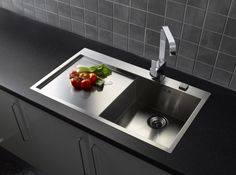 The modern, geometrically styled Ontario L10 from Reginox. http://www.sinks-taps.com/item-7889-ONTARIO_L10_Single_Bowl___Drainer.aspx