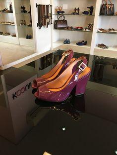 Confortável e lindo #peeptoe em verniz #marsala Você vai  #koquini #sapatilhas #euquero Compre Online: http://koqu.in/1UNOw0X