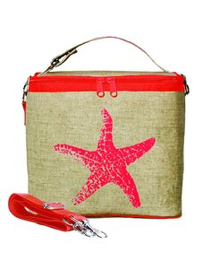 SoYoung - Neon Orange Starfish Small Cooler Bag - SoYoung - eco-friendly  bags and accessories for the modern family - designed in Canada c650b071607f2