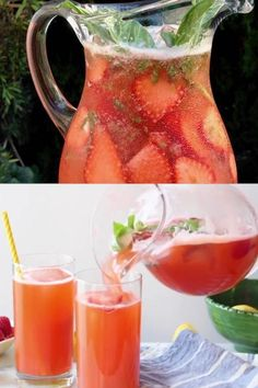 A super easy strawberry lemonade recipe Italian style, with hints of fragrant fresh basil and vanilla. Easy Strawberry Lemonade Recipe, Margarita Bebidas, Happy Hour Food, Lemonade Cocktail, Homemade Popsicles, Smoothie Drinks, Smoothies, Best Vegetarian Recipes, Easy Cooking