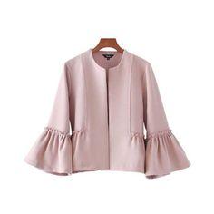 pink ruffles coat