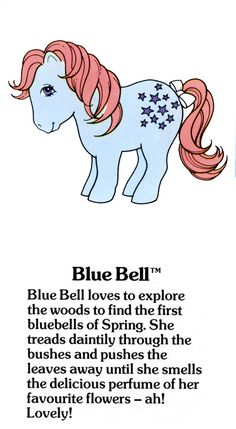 My Little Pony Blue Bell fact file ...
